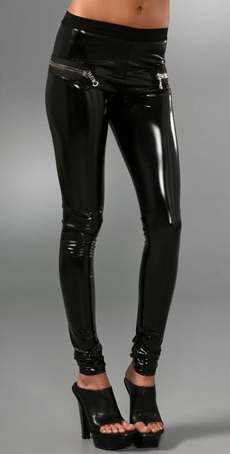 les chiffoniers zip pvc leggings dgrztez