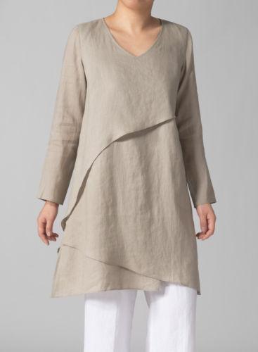 linen clothing vivid linen nwt women beige linen fabric tunic size us size 18w-20w plus pnxvmep