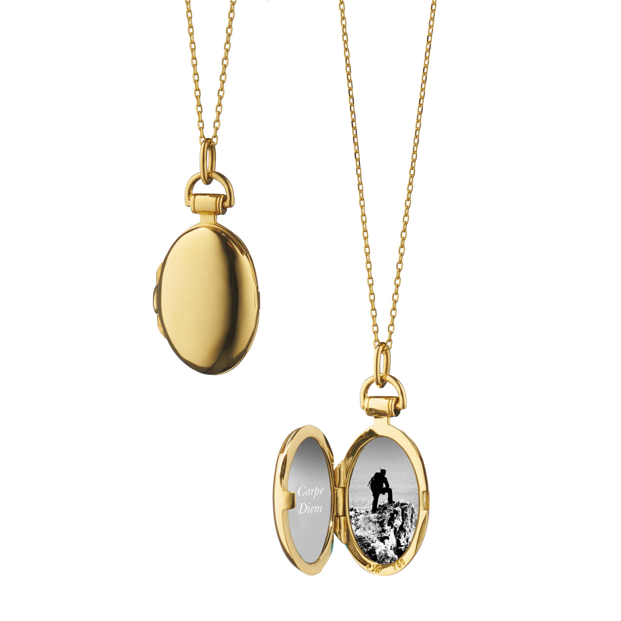 The aesthetics of a locket necklace
