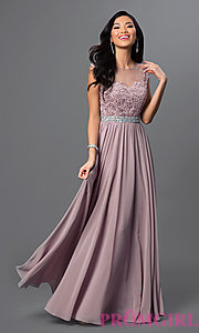 long dress image of embroidered-lace sheer-illusion long prom dress style: dq-9400 ycakyuz