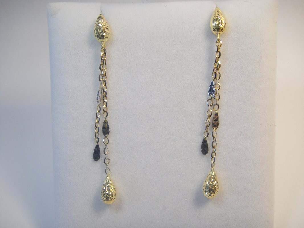 long earrings in yellow and white gold - ea010 uxwopvj