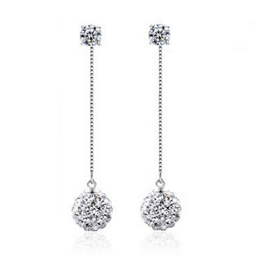long earrings silver plated super flash shambhala rhinestone tassel earrings long section  of female fashion jewelry fznrjtd