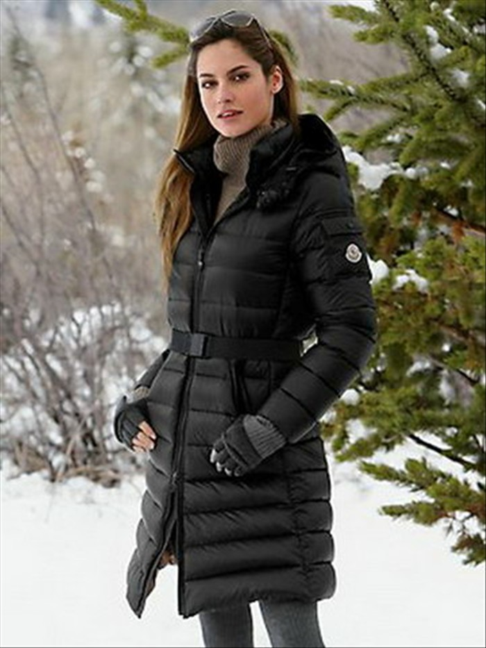 long puffer coat moncler mokachine hooded puffer long coat black w qqgontx
