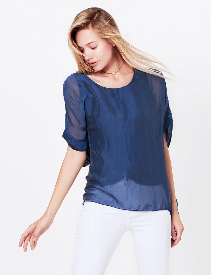 long tunic tops le3no womens silk flowy short sleeve batwing poncho tunic top smufeiz