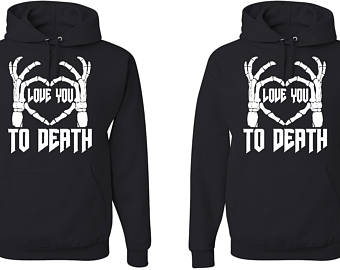 love you to death unisex matching couple hoodies aojyzcl