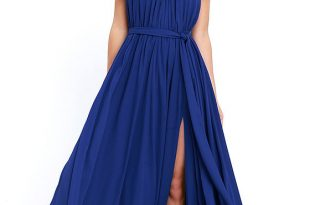lovely royal blue maxi dress - blue gown - halter maxi - $115.00 hmvuyqi