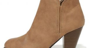 low boots looking sharp taupe high heel ankle boots ($36) ❤ liked on polyvore  featuring shoes szonydj