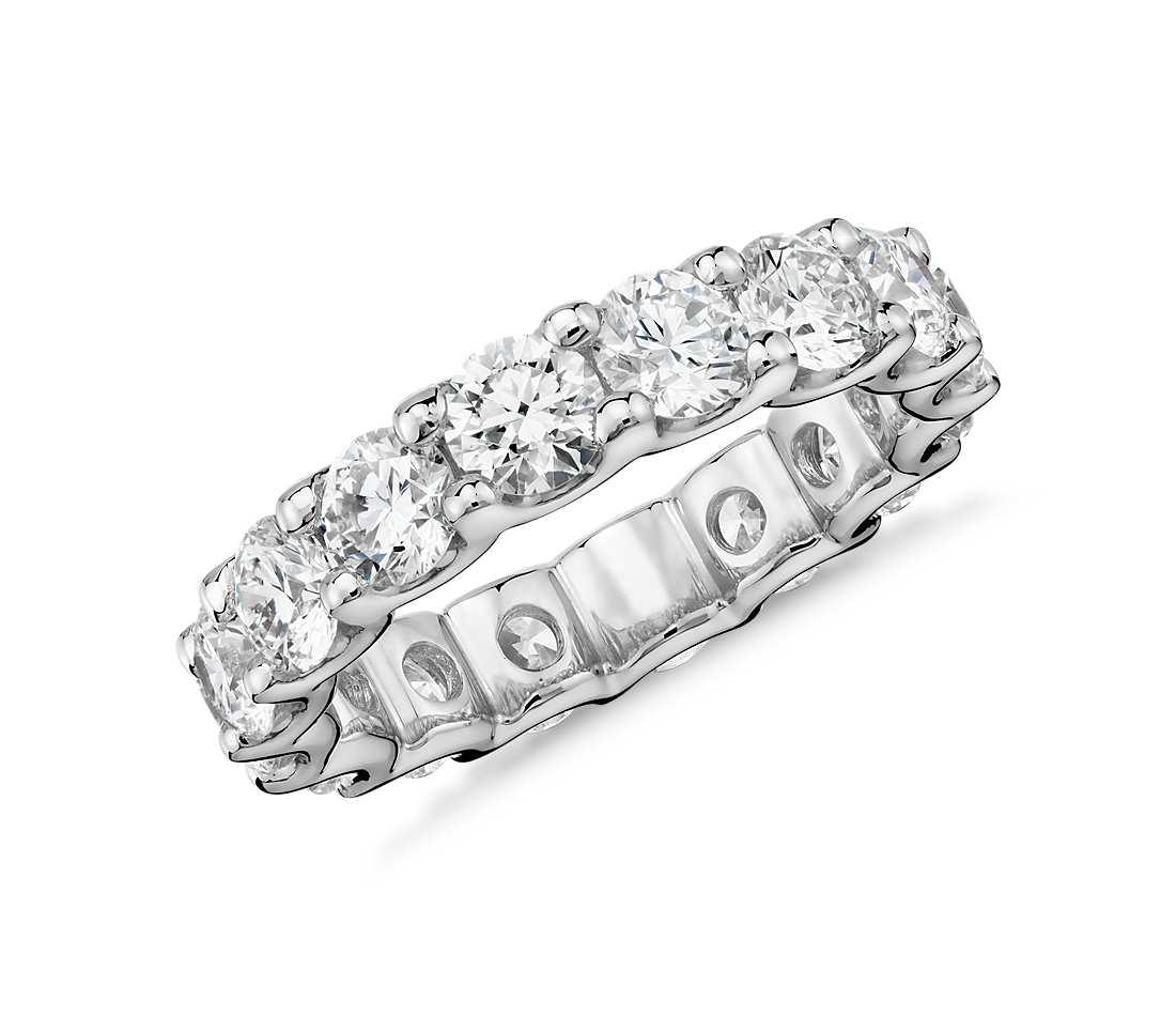 luna diamond eternity ring in platinum (4 ct. tw.) jskaiwb