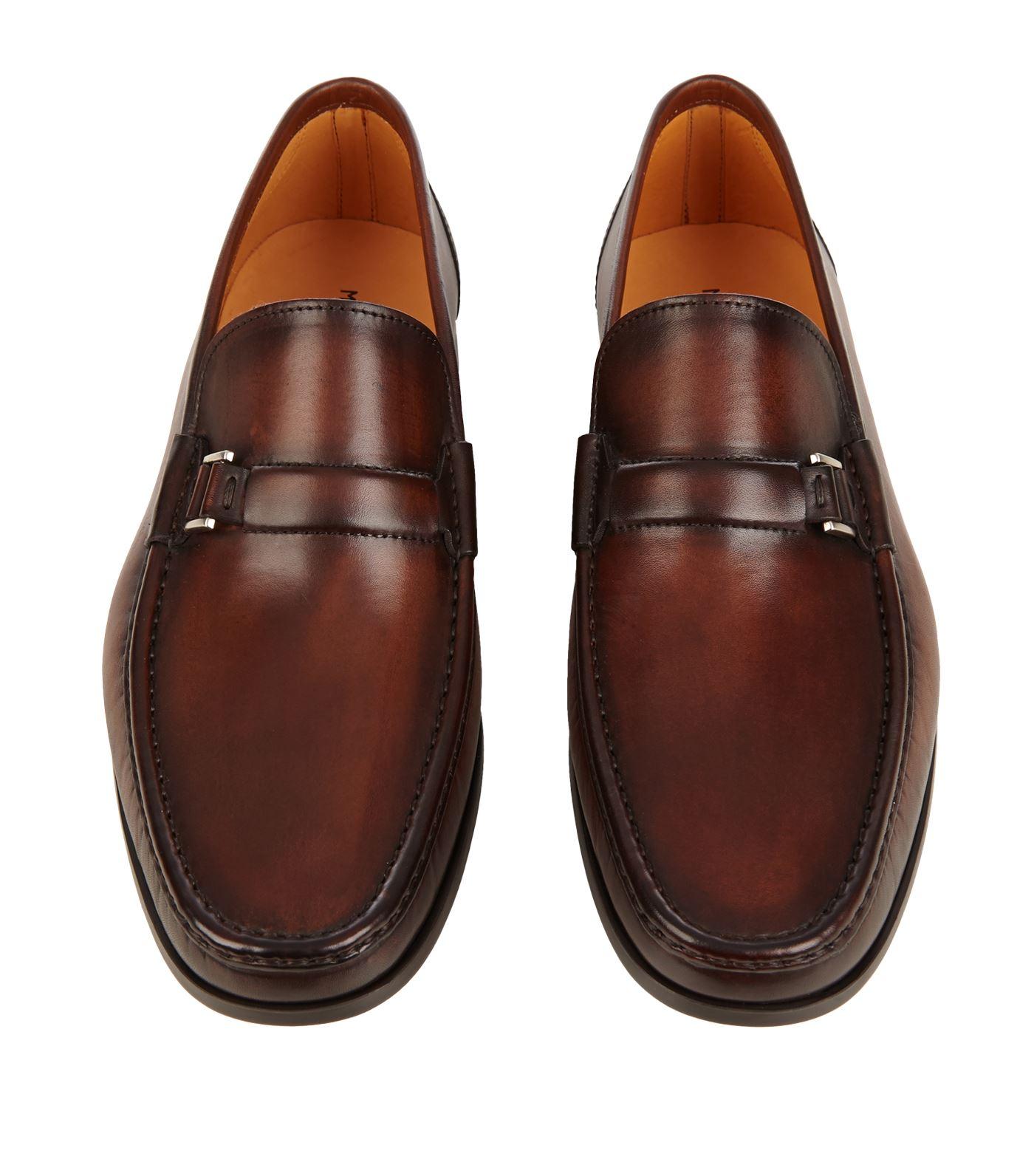 magnanni shoes ... shoes: loafers magnanni buckle detail penny loafer stvrrsm