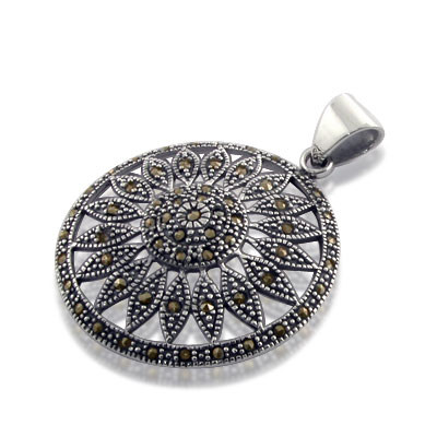 marcasite jewelry sterling silver marcasite pendant yfckmun