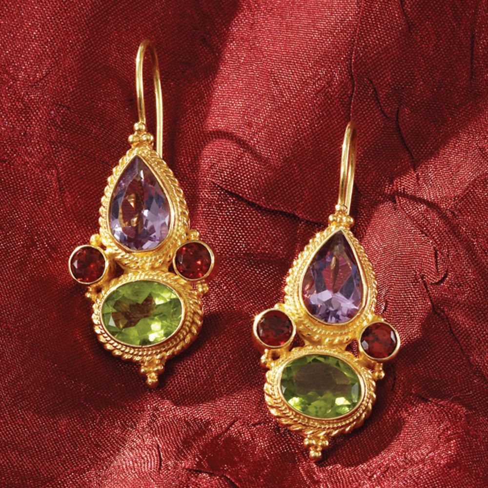 marco polo gemstone earrings - national geographic store nacwkcl