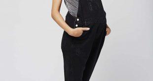 maternity dungarees maternity moto long dungarees - topshop idyxtxd