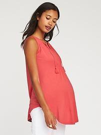 maternity tops maternity smocked tie-neck top andwzue