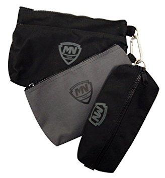 mcguire nicholas 31001 3 small bags, two black, one grey rbybqrj