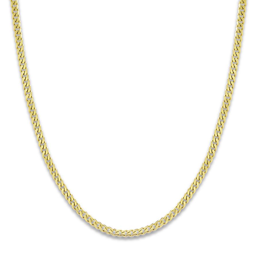 menu0027s curb chain necklace 14k yellow gold 24 jmkpyhu