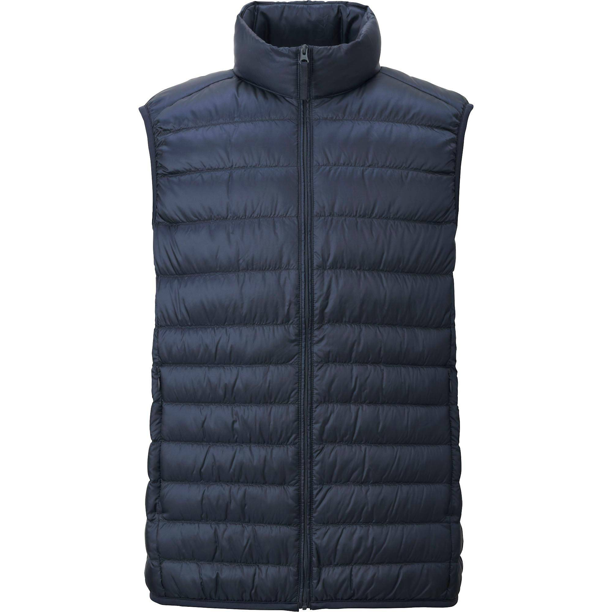men ultra light down vest, light gray, small nkjfmrg