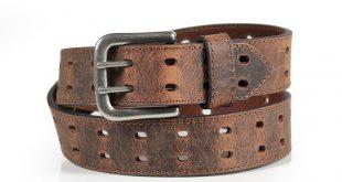 mens belts american worker® menu0027s crackle leather belt qjattzd