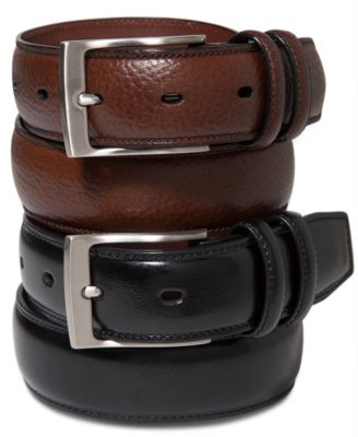 mens belts perry ellis menu0027s leather belt cumpdns