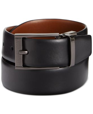 mens belts perry ellis menu0027s leather menu0027s leather reversible feather edge soft touch  cowhide belt xtkyzfx
