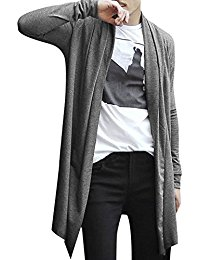 mens cardigans allegra k men shawl collar high-low hem long cardigan hfvqhfn