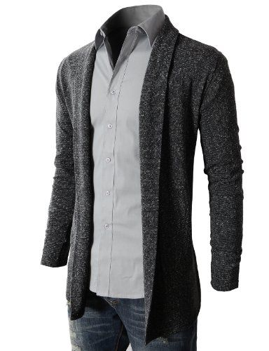 mens cardigans h2h mens shawl collar long cardigan charcoal,us xl (asia xxl) (kmocal011 ffprzce