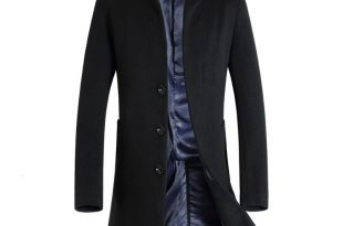 mens coat 2016 nieuwe lange wollen jas mannen mode heren erwt jas wool u0026 blends  winter ekwgman