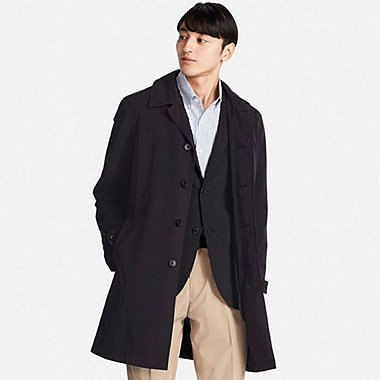 mens coat men convertible collar coat, black, medium yweyjul