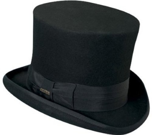 mens dress hats amazon.com: top hat victorian scala tuxedo mad hatter 100% wool black  large: clothing ryoqjmh