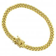 mens gold bracelets 14k yellow solid gold mens cuban bracelet 8 bngdvuy