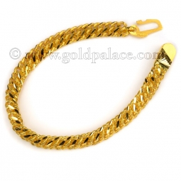 mens gold bracelets 22 k gold menu0027s bracelet 8-0 inches gfudbcm
