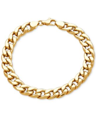 mens gold bracelets menu0027s heavy curb link bracelet in 10k gold yfmttth