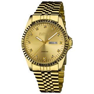 mens gold watches august steiner menu0027s diamond watch with stainless steel bracelet estofxv