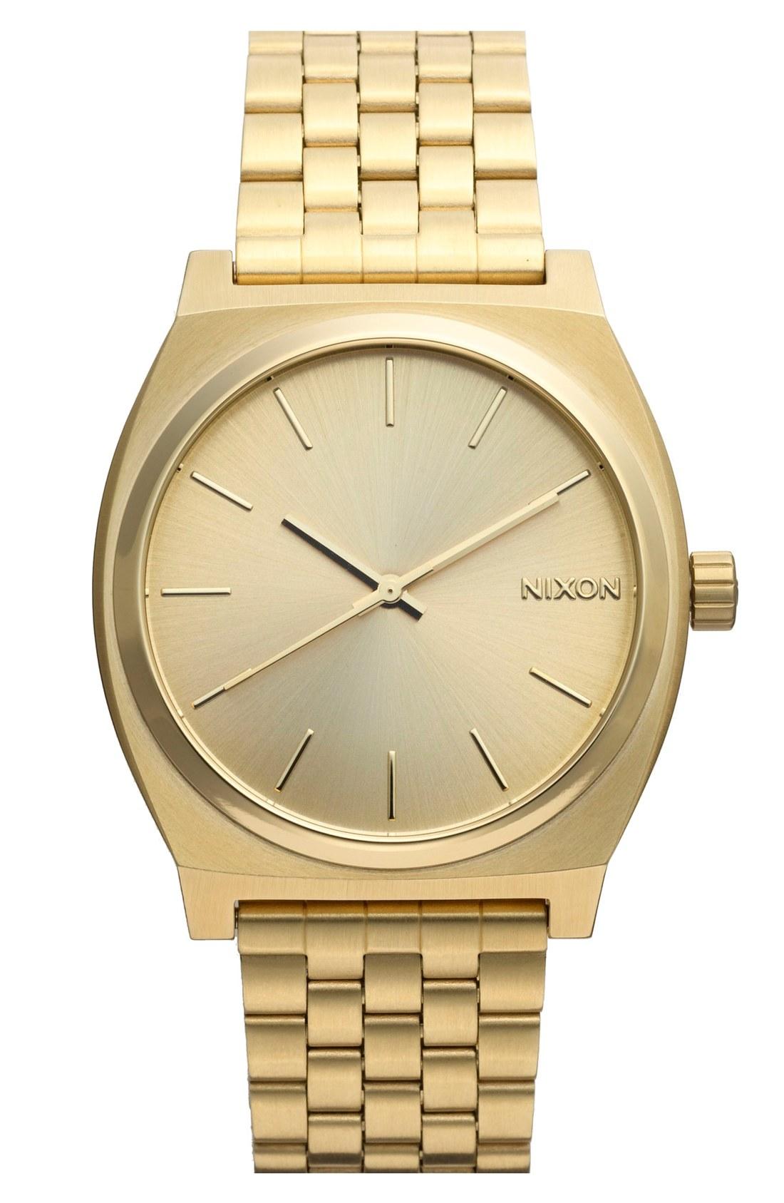 mens gold watches nixon u0027the time telleru0027 watch, ... ittkuto