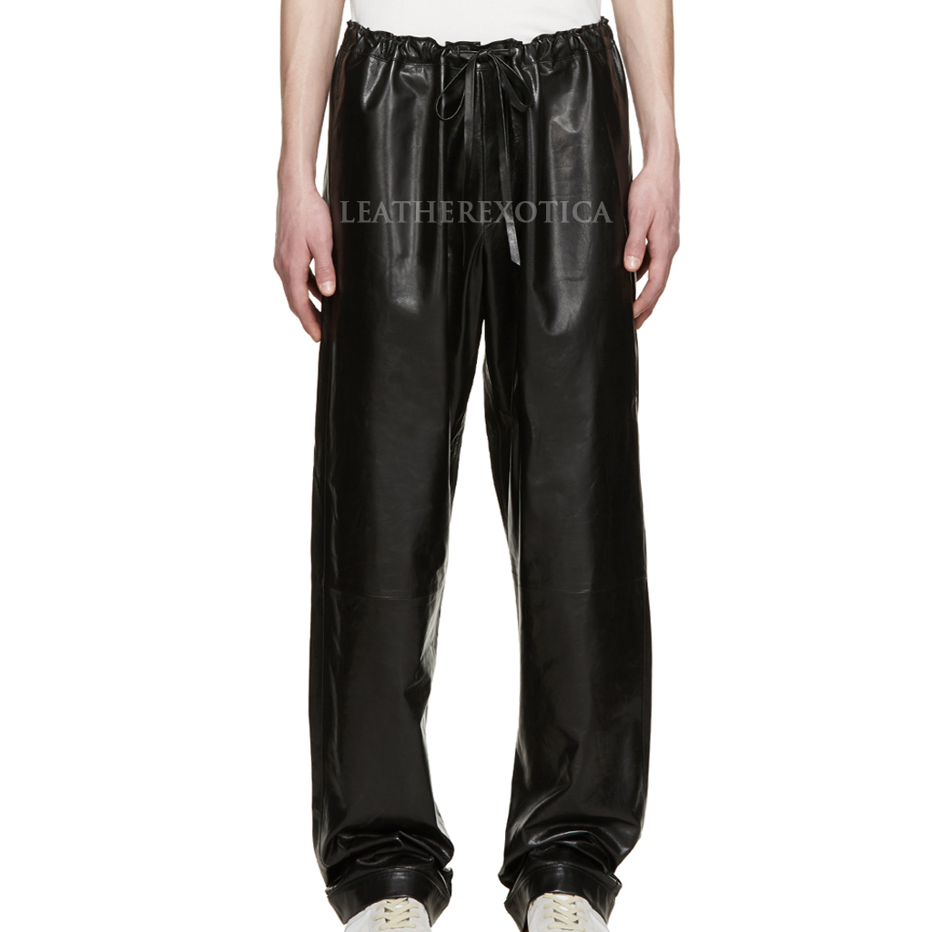 mens leather pants drawstring waistband leather pants for men ipupkqh