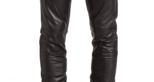 mens leather pants mens leather tapered fit biker pants ahtuprb