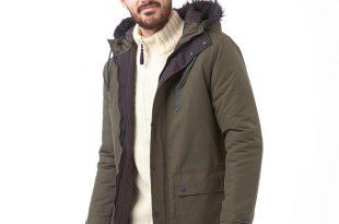 mens parka coats tokyo laundry mens fur hooded parka khaki bzgicwp