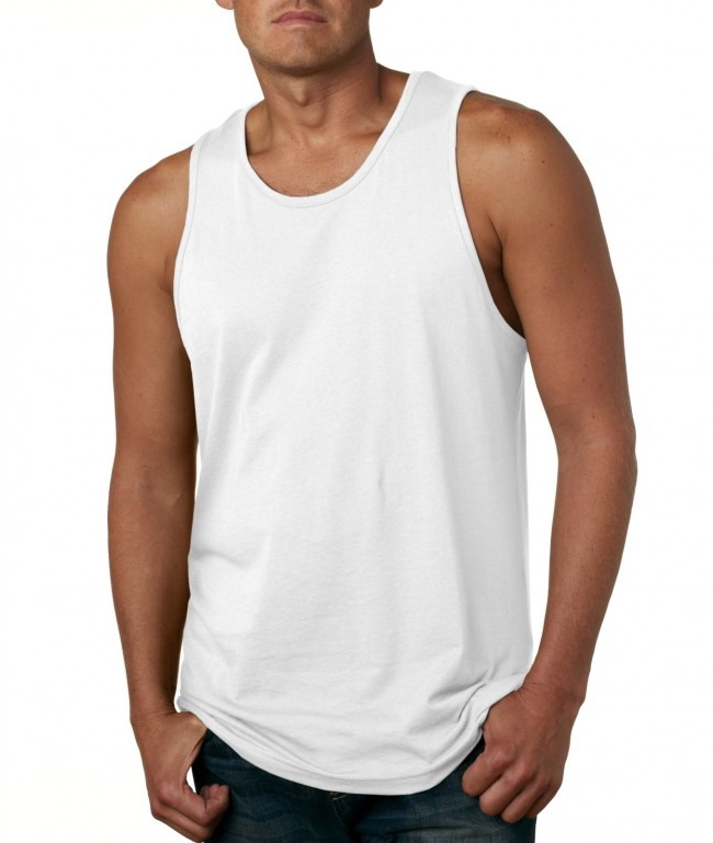 mens tank top next level menu0027s jersey solid tank top 3633 white small bebkosc