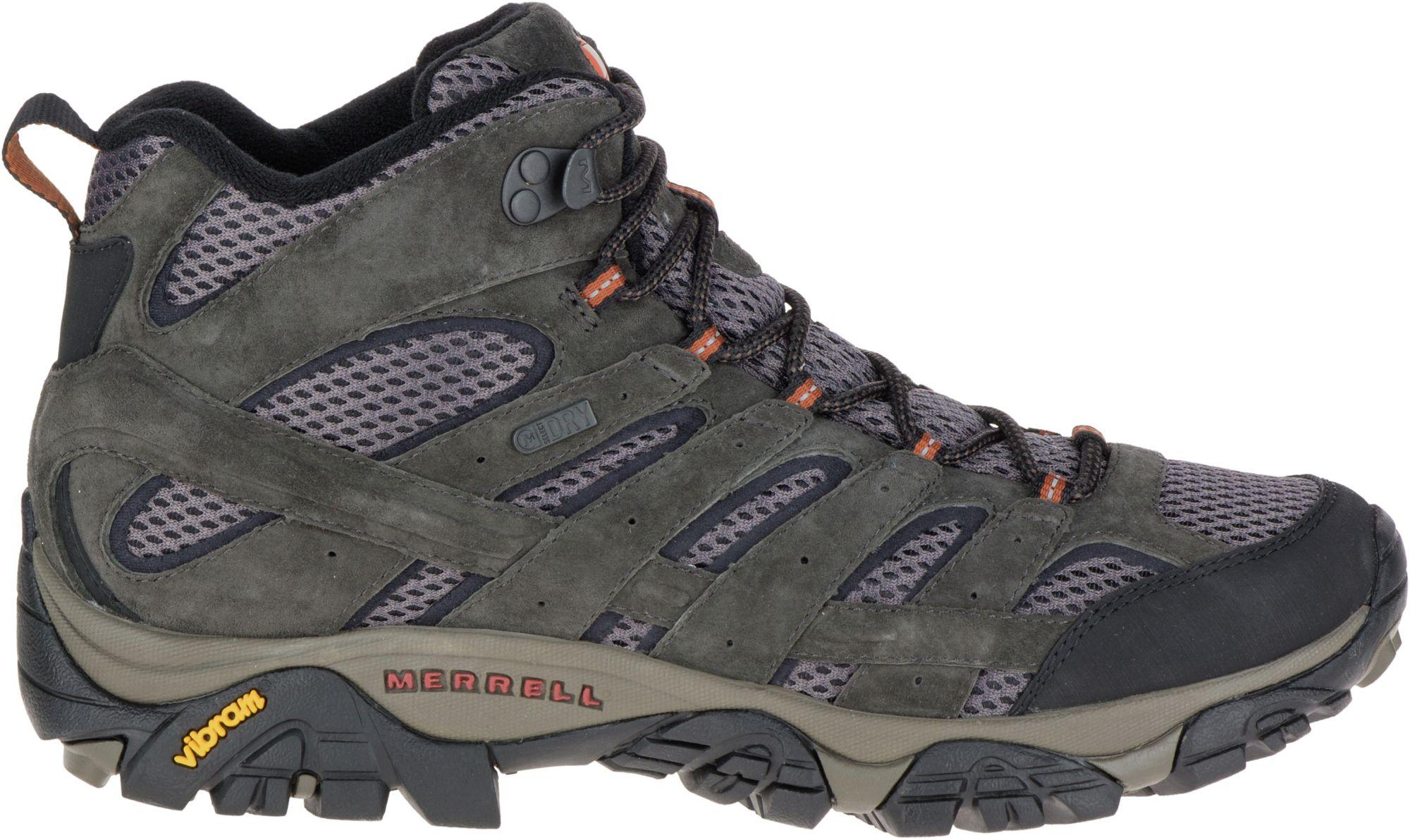 mens waterproof boots merrell menu0027s moab 2 mid waterproof hiking boots | dicku0027s sporting goods ektqypc