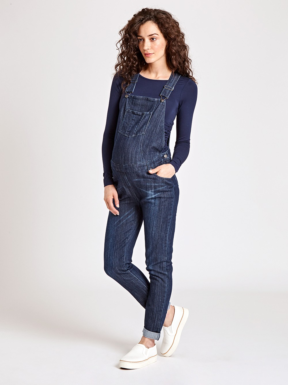 mid wash maternity dungarees zytntap