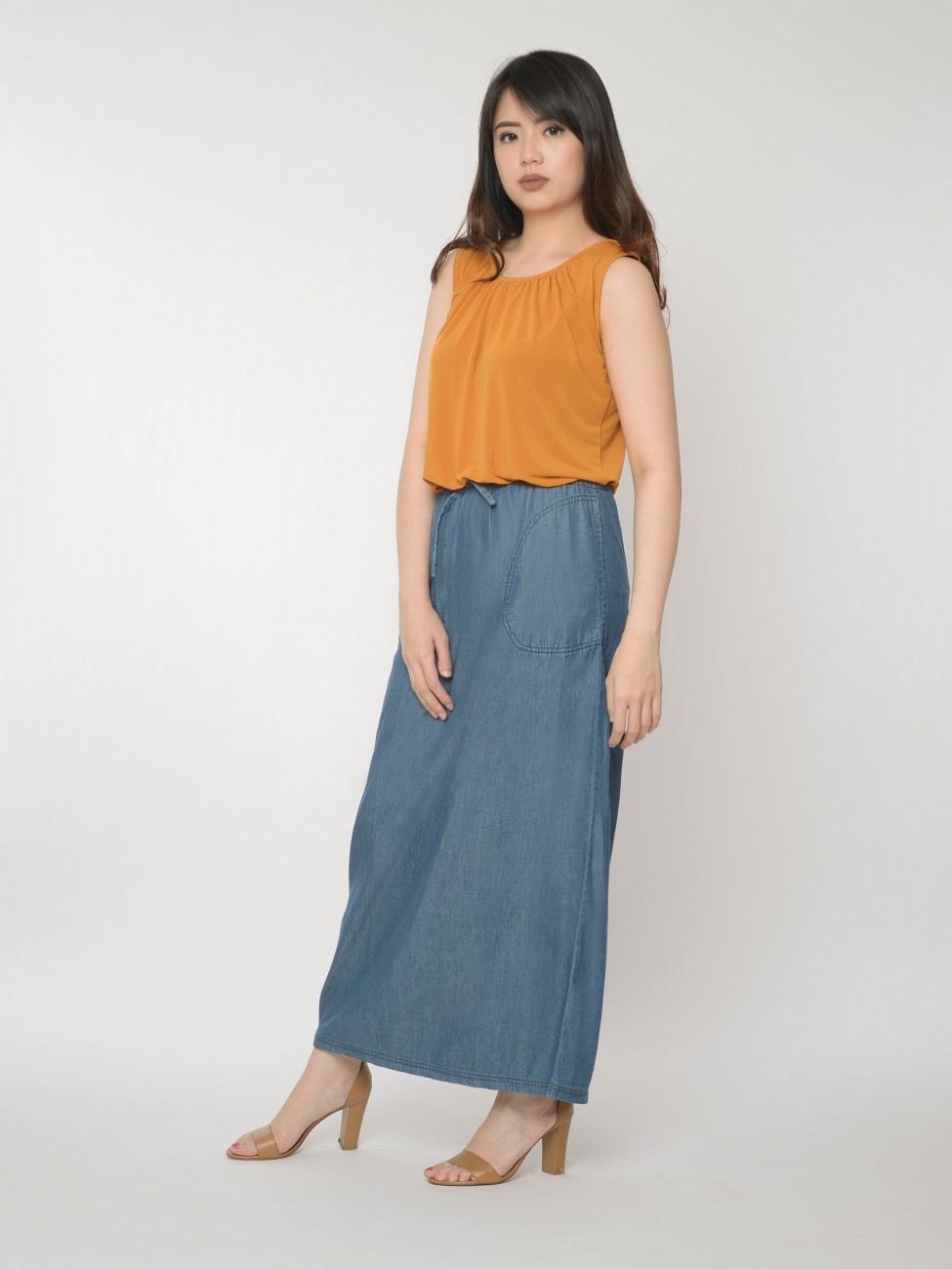 minna denim maxi skirt efihvoj