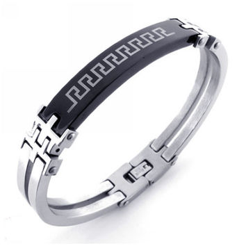 modern jewelry for men u0027s 316l titanium steel bracelet wumnrhl