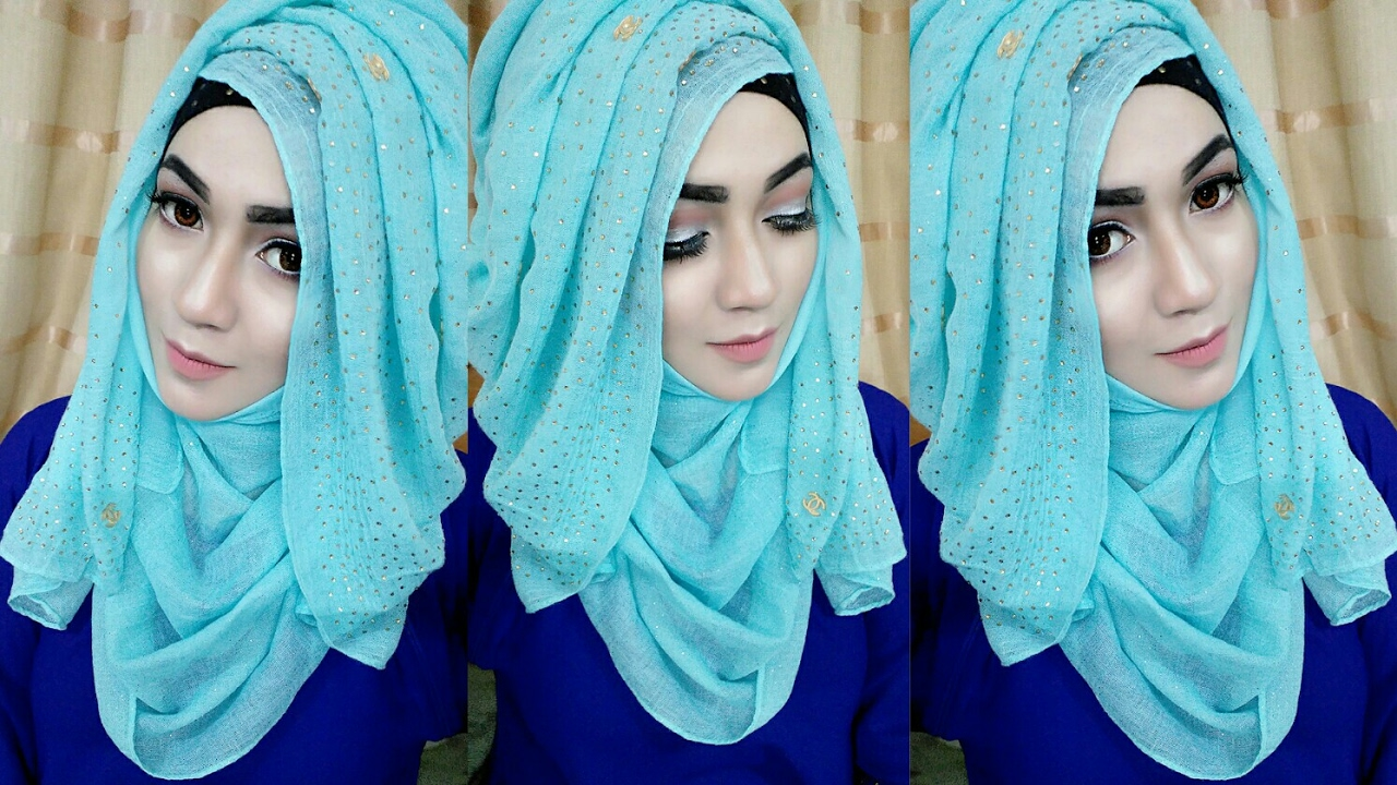 most requested tutorial easy layered look hijab style with saree kamij |  pari zaad hqqycwc