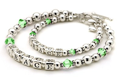 mother bracelets set of mother and daughter matching mommy u0026 me bracelets - august birth  crystal gmsbtlo