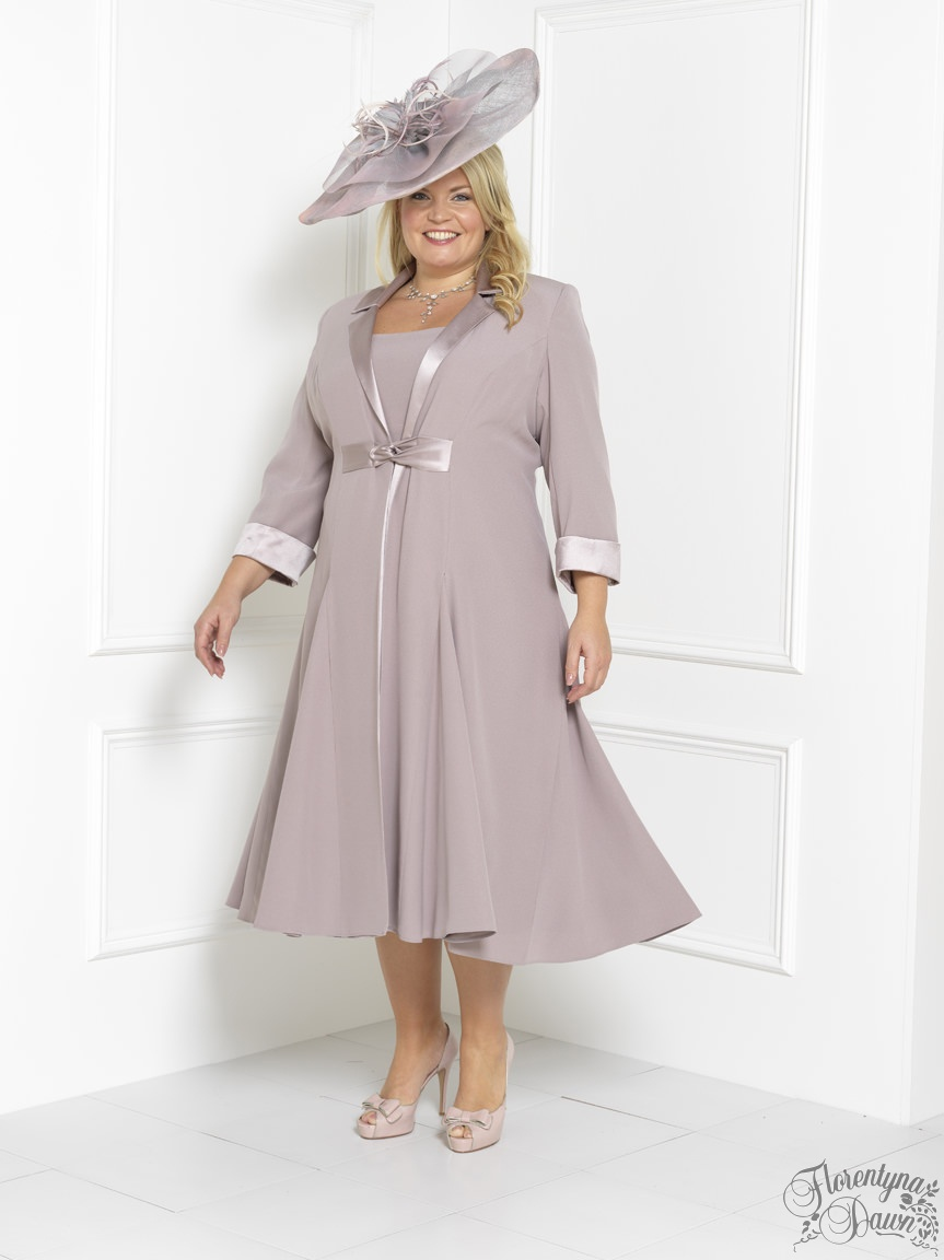mother of bride outfits florentyna dawn steely pink brigitte dress and swing coat (fd1739) nqmkwac