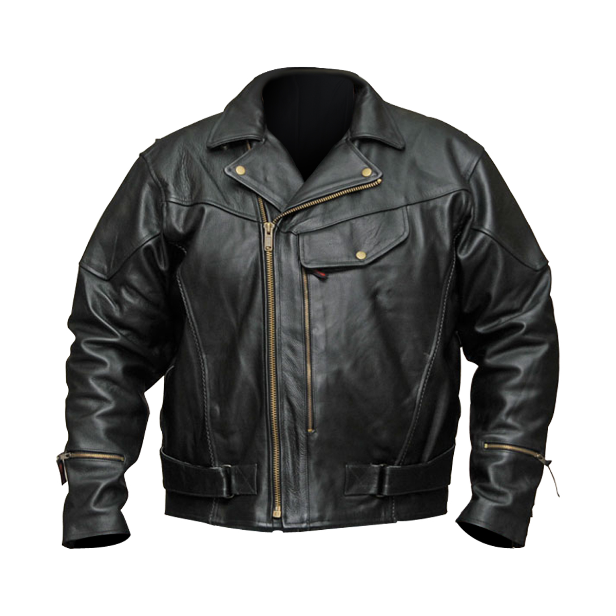 motorcycle leather jacket menu0027s pistol pete-chief premium leather motorcycle jacket ticjkyx