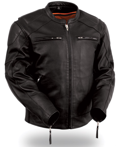 motorcycle leather jacket menu0027s vented leather jacket with conceal carry holsters adlpoey