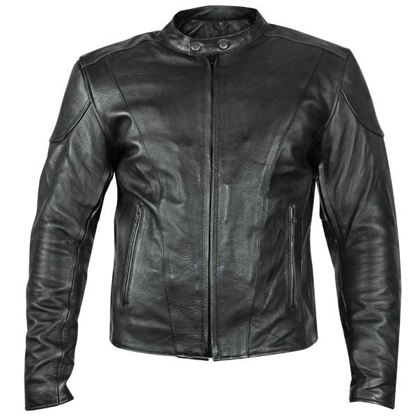 motorcycle leather jacket xelement b7209 u0027renegadeu0027 menu0027s black leather motorcycle jacket -  leatherup.com adlxmxa