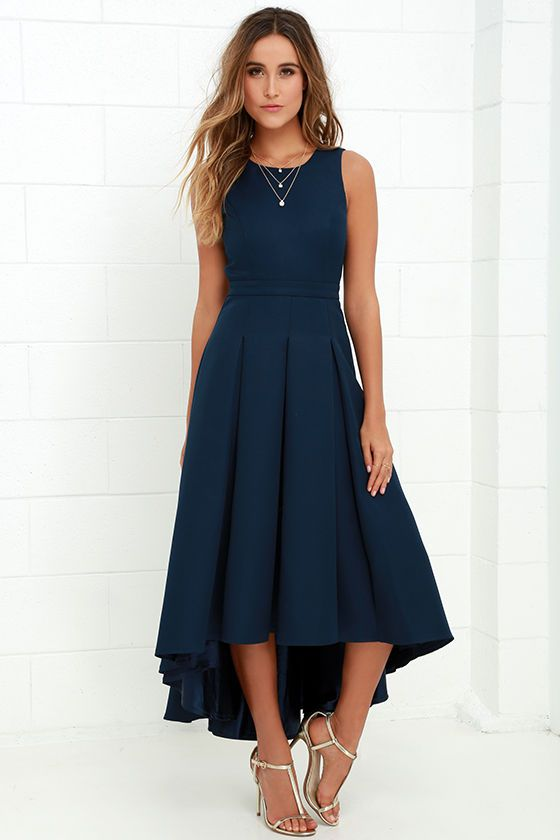 navy dresses paso doble take navy blue high-low dress jojphgs