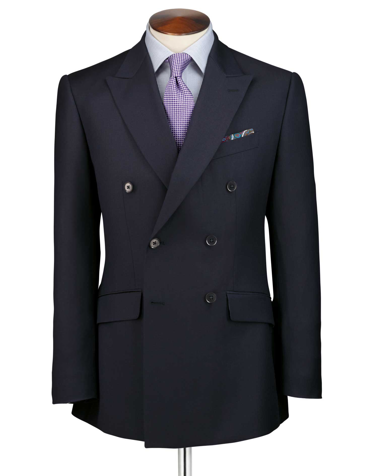 navy slim fit double breasted twill business suit dqztxhg