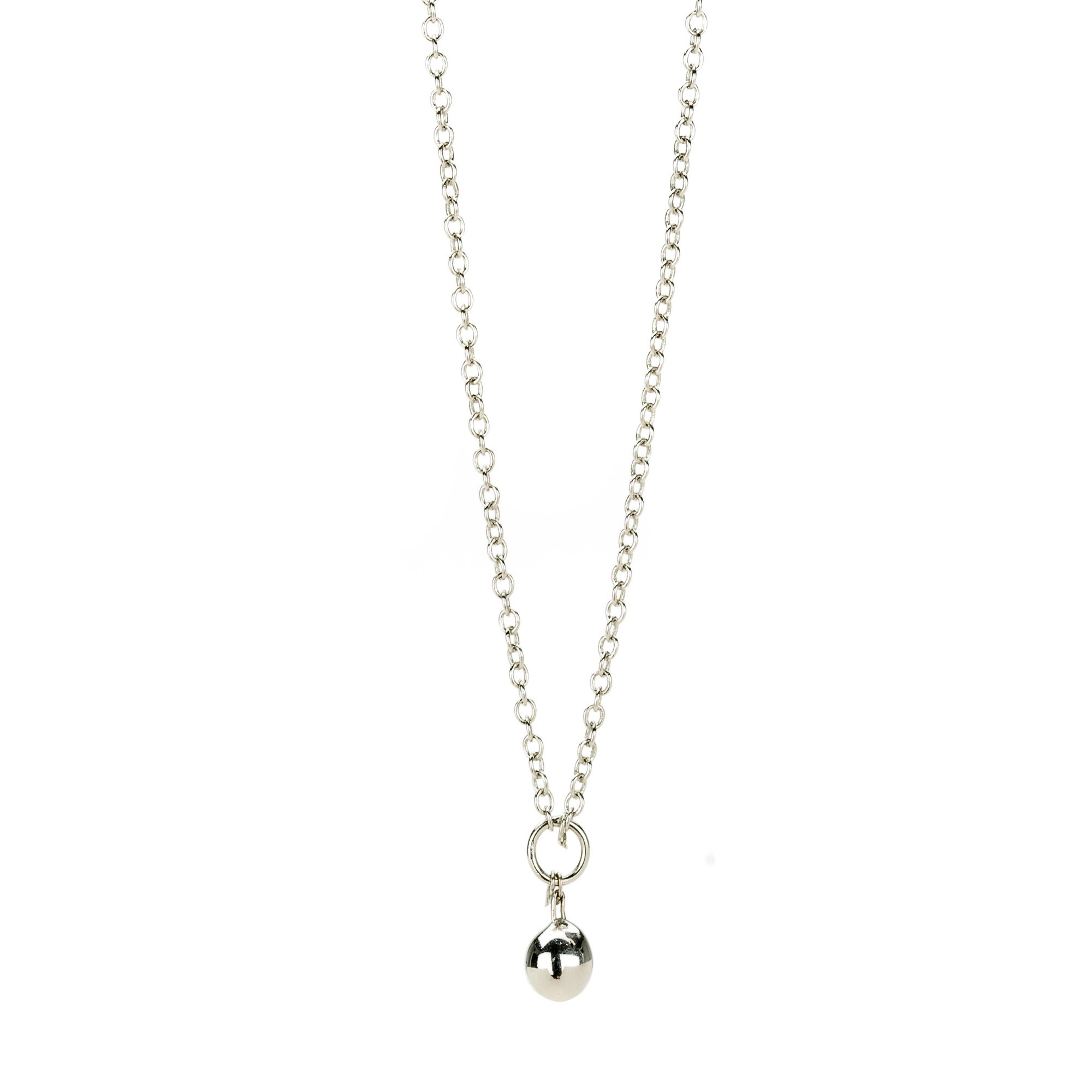 necklace chain chamilia drop chain necklace in sterling silver (36 inches) kkdvrub